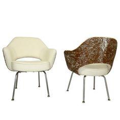 Knoll Executive Arm Chair Pair 1  by Eero Saarinen