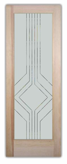 glass door designs - Home Interior Design Ideas Frosted Glass Pantry Door, Etched Glass Door, Sliding Glass Door, Glass Etching, Glass Doors, Frosted Glass Design, Stained Glass Designs, Stained Glass Patterns, Art Deco Door