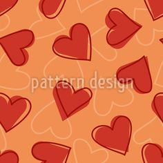 Heart Vector Design by Sonja Glisovic at patterndesigns.com Vector Pattern, Pattern Design, Vector Design, Surface Design, Your Design, Doodles, Valentines, Patterns, Heart