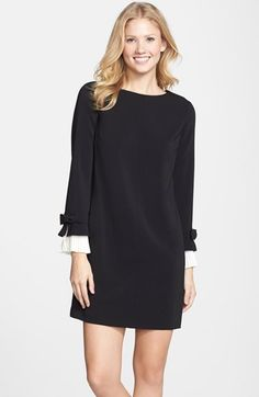 Cynthia+Steffe+Pleated+Sleeve+Shift+Dress+available+at+#Nordstrom