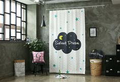 Sweet Dream Black Out Wide Fabric for Curtains one by cottonholic