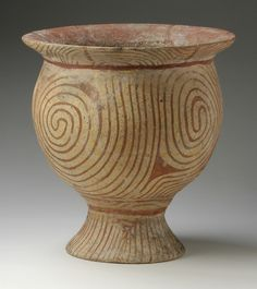 Title Pot with Concentric Swirls Description Thailand, Ban Chiang culture, 3rd millenum B.C. : Furnishings; Cookware : Earthenware with painted red slip : 9 11/16 x 9 3/16 in. (24.61 x 23.34 cm) ://www.lacma.org/art/collection/south-and-southeast-asian-art South and Southeast Asian Art] Accession number M.74.32.6 Date 3r...