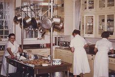 The Hillwood staff prepares for a party.   Marjorie Merriweather Post's Washington, D.C. estate.