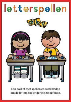 Letterspellen Teacher Resources, Peanuts Comics, Teaching, Fictional Characters, School Ideas, Jewelry Ideas, Corona, Education, Fantasy Characters