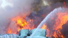 #Brand auf Mülldeponie in Salzgitter