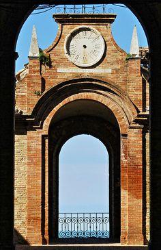 Italy, Marche, Recanati - balcony#1 by Gianni Del Bufalo