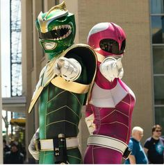These Power Ranger cosplays looks amazing! #SonGokuKakarot