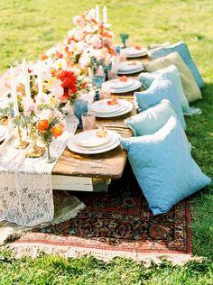 Anti Slip For Carpet Runners Code: 4924183528 Trendy Wedding, Boho Wedding, Rustic Wedding, Bohemian Weddings, Bohemian Decor, Dress Wedding, Summer Wedding, Romantic Bridesmaid Dresses, Wedding Place Settings