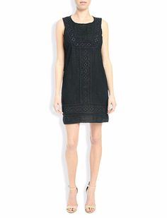 Lucky Brand Black Eyelet Sun Tank Dress $129 NWT Large #LuckyBrand #Sheath