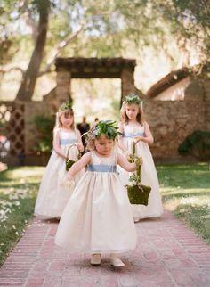REVEL: Blue Sash Flower Girl Dress