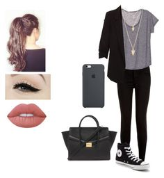 """"""""""" by moniybrooks on Polyvore featuring Converse, Forever 21, Anatomy Of and Lime Crime"""