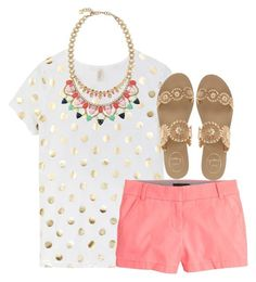 """""""Out for Mexican"""" by cfc-28-sc ❤ liked on Polyvore featuring J.Crew, Jack Rogers and Stella & Dot"""