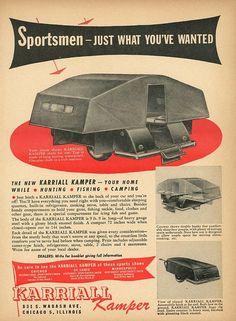 Vintage 1946 Karriall Kamper Print Advertisement  Camping