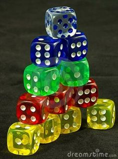 Photo about Colored dice stacked in a pyramid. Image of loss, isolated, background - 6698367 Hand Games, Kinds Of Shapes, Famous Cartoons, Vintage Games, Game Pieces, Picture Design, Dungeons And Dragons, Cute Wallpapers, All The Colors