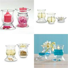 PartyLite Clearly Creative Ultimate Votive Pair. These are a must have! Can be used multiple ways to create multiple looks! DIY= Decorate it Yourself. How would you decorate them?  www.partylite.biz/bayoucandles  #PartyLite #DIY