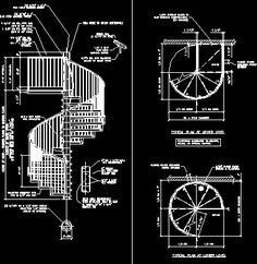 Spiral staircase (dwgAutocad drawing)