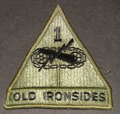 Old IronSides Used Patch  US Army World War II Collectible to wear or us as a prop or just collect  http://www.rarevintagecollectibles.com