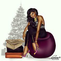 Fashion Drawings by Peneil Enchill fashion bomb daily african american fashion sketches 0