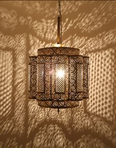 Antique Brass Moroccan Ceiling Lamp - from Moroccan Bazaar. #aawep #wedding #Africanwarriorprincess