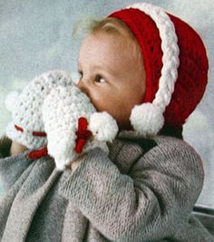 NEW! Basic Cap & Mittens crochet pattern from Baby Book Crocheted & Knitted, Star Book No. 153.