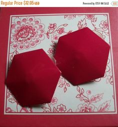 Red Earrings Shiny  Enamel Button Post with by SpringJewelryThings