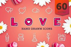 Valientine's Day - Hand Drawn Icons Graphics **Love hand drawn icon set contains:**- 60 hand drawn icons- Each icon in 4 different graphic sty by Good Stuff, No Nonsense All Icon, Icon Set, Web Design Icon, Graphic Design, Identity, Valentines Day Clipart, Design Social, Love Doodles, Best Icons