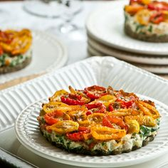 Tomato Spinach Tart raw vegan