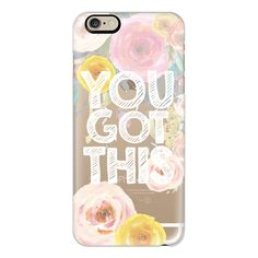iPhone 6 Plus/6/5/5s/5c Case - You Got This Watercolor Floral 2 ($40) ❤ liked on Polyvore featuring accessories, tech accessories, iphone case, iphone cover case, floral iphone case and apple iphone cases