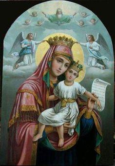 Holy Mary Mother of God Jesus And Mary Pictures, Images Of Mary, Mary And Jesus, Blessed Mother Mary, Blessed Virgin Mary, Catholic Saints, Catholic Prayers, Hail Holy Queen, Christian Artwork