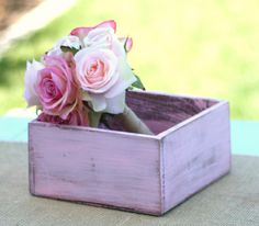 Rustic Distressed Barn Wood Style Planter Vase Box by braggingbags, $15.99