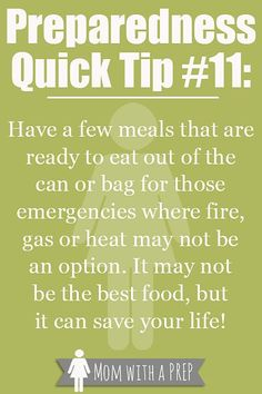 PQT - LUNCH TIME - is your meal coming from a can or a bag today? Check out why it would be good to stock canned or bagged foods for an emergency at MomwithaPREP! Emergency Bag, Emergency Preparedness Kit, Family Emergency, Emergency Preparation, In Case Of Emergency, Emergency Planning, Emergency Management, Survival Food, Survival Prepping