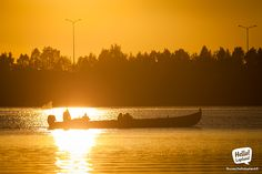 A safari boat during sunset, around 11 PM in Rovaniemi. Lapland Finland, And July, Family Road Trips, Midnight Sun, Believe In God, Love Of My Life, Denmark, Norway, Netherlands
