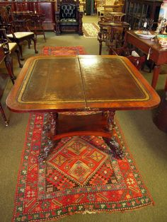 Ca. 1840 Federal style Mahogany Game Table | Olde Mobile Antique Gallery