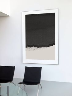 Ideas For Abstract Art Prints Black White Paintings Black Wall Art, Grey Art, Black And White Painting, White Art, Minimal Art, Instalation Art, Neutral Art, Gender Neutral, Simple Wall Art