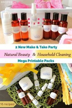Make & Take Party Packs: Set #3 Natural Beauty and Household Cleaning