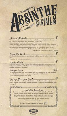 A division of UnderConsideration, cataloguing the underrated creativity of menus from around the world. Drink Menu Design, Blue Menu, Menu Printing, Cocktail Menu, Retro Design, Division, Journals, Barrel, Brick