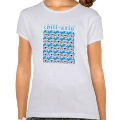 Girls Chill-axin' Penguin T-Shirt