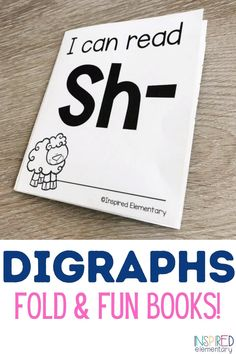 Digraphs Activities First Grade {Fold & Fun Books}