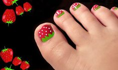 uñas pies 7 Feet Nails, My Nails, Spring Nails, Summer Nails, Disney Nails, Birthday Nails, Beautiful Nail Designs, Nail Decorations, Spa Day