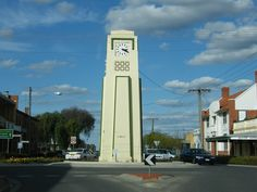 Karlie McDonald Memorial Clock - Kerang. Karlie was a sports mistress at Kerang High School. She drowned on 30 March 1927 after helping a struggling student during a swimming certificate course. The swimming pool was then in the Loddon River, a short distance downstream of Patchell's Bridge.