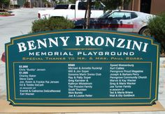 M8058 - Large Carved HDU Playground Sign