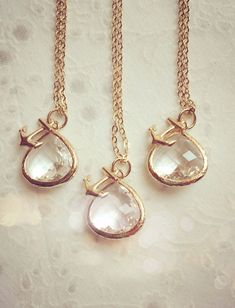 These gorgeous matching pendents from LimonBijoux on Etsy are so fab your bridesmaids will want to wear them again and again