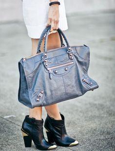 Balenciaga Bag with rose gold hardware.