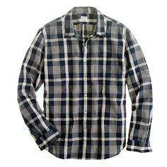J. Crew End-on-end utility shirt in Langley plaid