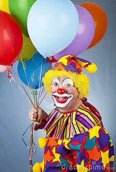 Happy Clown With Balloons Stock Images - Image: 13689634 Phillip Morris, from Morris Costumes.