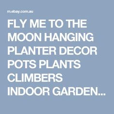 FLY ME TO THE MOON HANGING PLANTER DECOR POTS PLANTS CLIMBERS INDOOR GARDEN  | eBay