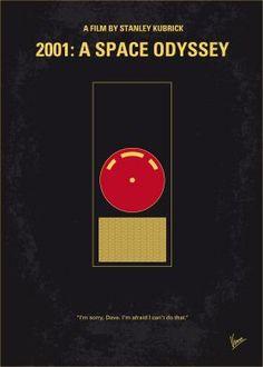 No003 My 2001 A space odyssey minimal movie poster