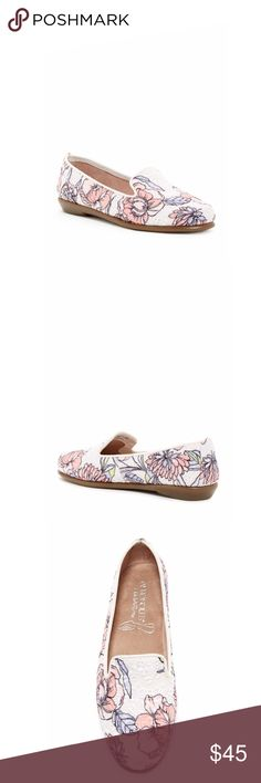 Aerosoles Floral Shoes A fresh take on an everyday classic shaped in a smoking flat style and lined with ultra-luxe memory foam. Round toe. Slip-on style. Piping trim. Fabric lining. Rubber sole. AEROSOLES Shoes Flats & Loafers