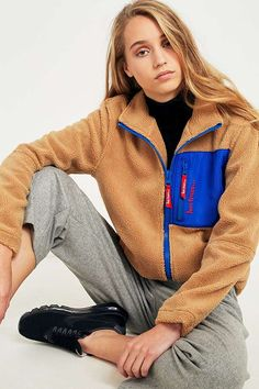 uo - iets frans... Fleece zip through jacket