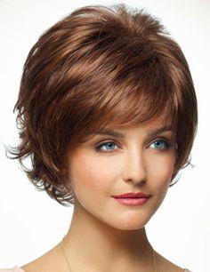 Darcy Wig by Revlon... Short razor cut shag with voluminous top layers, heavier layered fringe and stylish flips.